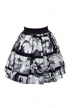Hemet Pinup Comic Strip Skirt black white retro... - $45.49 - $53.45