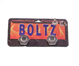 license plate SILVER Boltz RED NECK BOLT HILLBI... - $7.91
