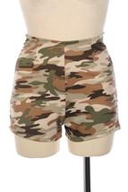 Camouflage Print  high waist vintage zipper back model Shorts Punk Retro... - $6.29