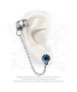 Diamond Pall Ear Cuff Delicate dusk blue crystal stud By Alchemy Gothic - $21.73