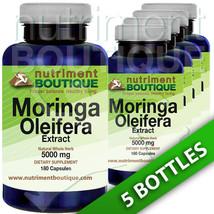 Moringa Oleifera Extract 5000mg -5X180 capsules... - $42.05