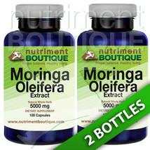 Moringa Oleifera Extract 5000mg -2X180 capsules... - $19.77