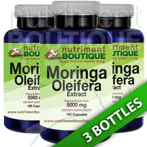 Moringa Oleifera Extract 5000mg -3X180 capsules... - $25.73