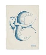 The Rise And Fall Swallow Kitchen Tea Towel bird Tattoo inspired - $16.99