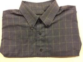 Van Heusen Mens Size L Button-Down Shirt- Blue and White - $10.00