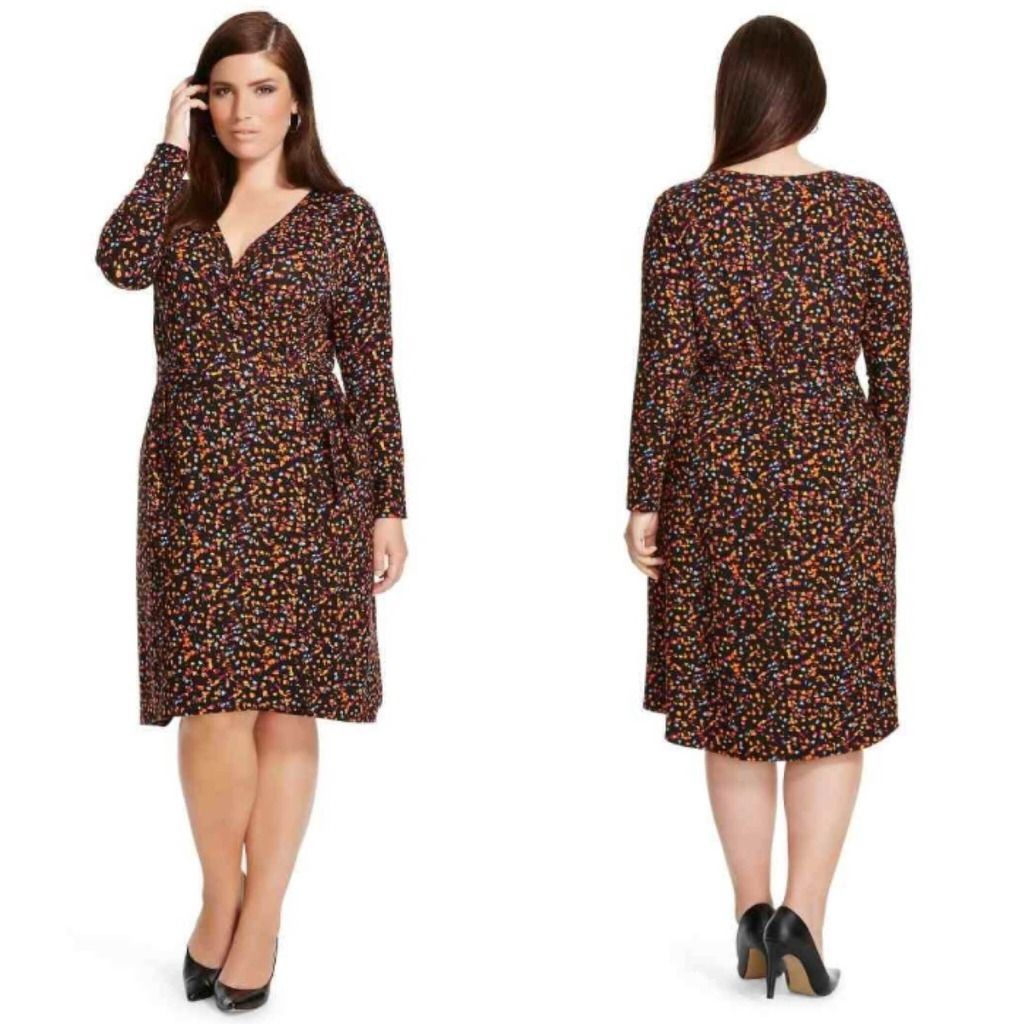 a2c9c69424a NWT Ava   Viv Plus Size Faux Wrap Dress and 50 similar items. S l1600