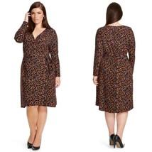 NWT Ava & Viv Plus Size Faux Wrap Dress Confetti Print 2X - $14.40