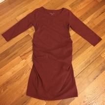 NWT Extra Large Liz Lange Maternity Deep Red Tee Shirt Dress - $9.74