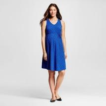 NWT Liz Lange Maternity Blue Black Striped Dress Extra Large - $19.24