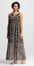 Liz Lange Maternity Pregnancy Printed Maxi Long Dress Black New Pregnant... - $22.99