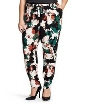 NWT Ava & Viv Plus Size Multi Colored Printed Jogger Drawstring Pants 4X - $18.27