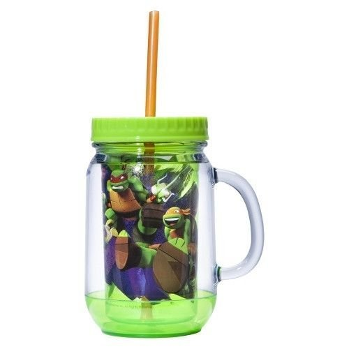 Teenage Mutant Ninja Turtle Mug with Lid and Straw - $8.79