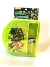 Teenage Mutant Ninja Turtle Food Storage Container with Fork and Spoon - $4.89