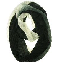 Echo Design Women's Knighted Pleats Infinity Loop Scarf Black/White - £14.32 GBP
