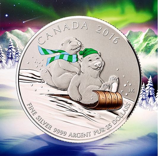 $25 Fine Silver Coin - Winter Fun (2016)