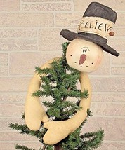 Snowman Decoration Christmas Tree Topper Holiday Decor Xmas Party Orname... - $39.54
