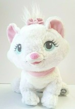 Disney Authentic Aristocats Marie Plush Stuffed Animal White Cat Pink Bo... - $19.39