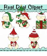 Christmas Babies Clipart - $1.25