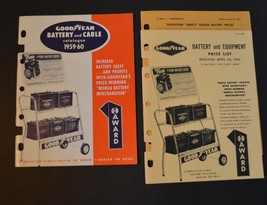 1959-1960 GOODYEAR Battery and Cable Catalogue  and 1961 Price List Deal... - $20.00