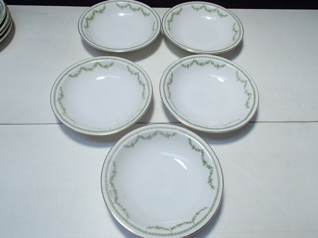Primary image for 5 Berry Bowls Rosenthal Selb Bavaria~~green garland decoration