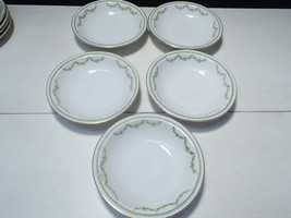 5 Berry Bowls Rosenthal Selb Bavaria~~green garland decoration - $9.95