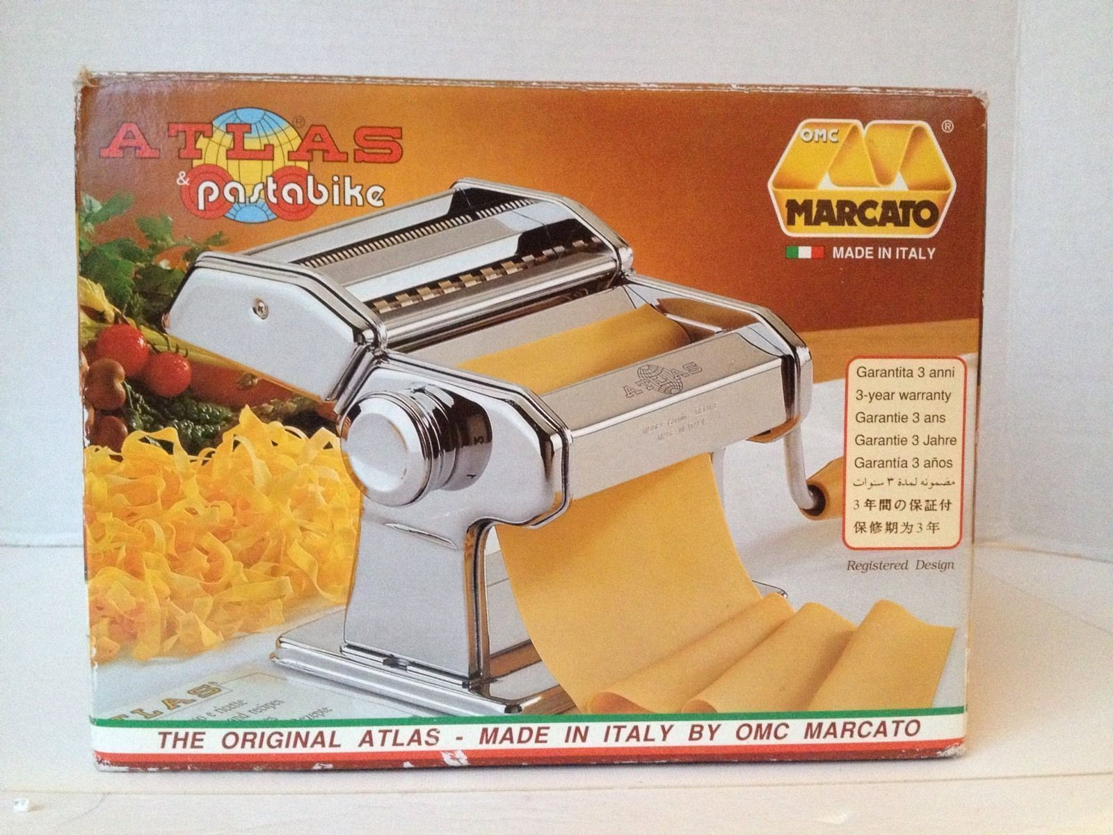 marcato atlas 150 pasta maker hand crank roller pasta bike italy pasta makers. Black Bedroom Furniture Sets. Home Design Ideas