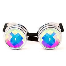 CYBER MONDAY Rave Goggles GloFX Chrome Kaleidoscope Goggles Bug Eye Lens... - $49.99