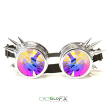 CYBER WEEK GloFX Chrome Spike Kaleidoscope Effect Goggles Glow Rave Steampunk - $49.99