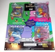 The Simpsons RARE SUBWAY STORE DISPLAY Kids Pak Lot PLUS THE POSTER Simp... - $83.81