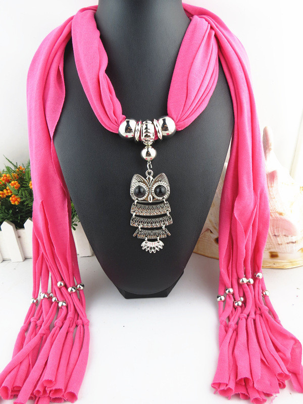 Charms Scarf jellery pendant Scarf Scarves lace Scarf image 11