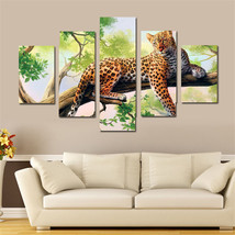 5 Panel Leopard Canvas Printings Wall Decor Pin... - $30.74 - $37.95