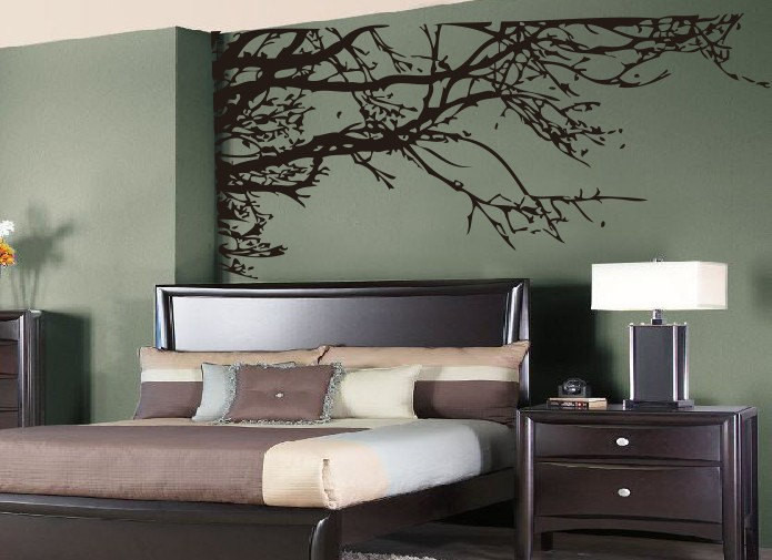 Large Tree Branches Wall Vinyl Tliving Room Wall Decor