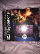 Medal Of Honor Underground (Sony PlayStation 1 PS1, 2000), Complete, Black Label - $19.60