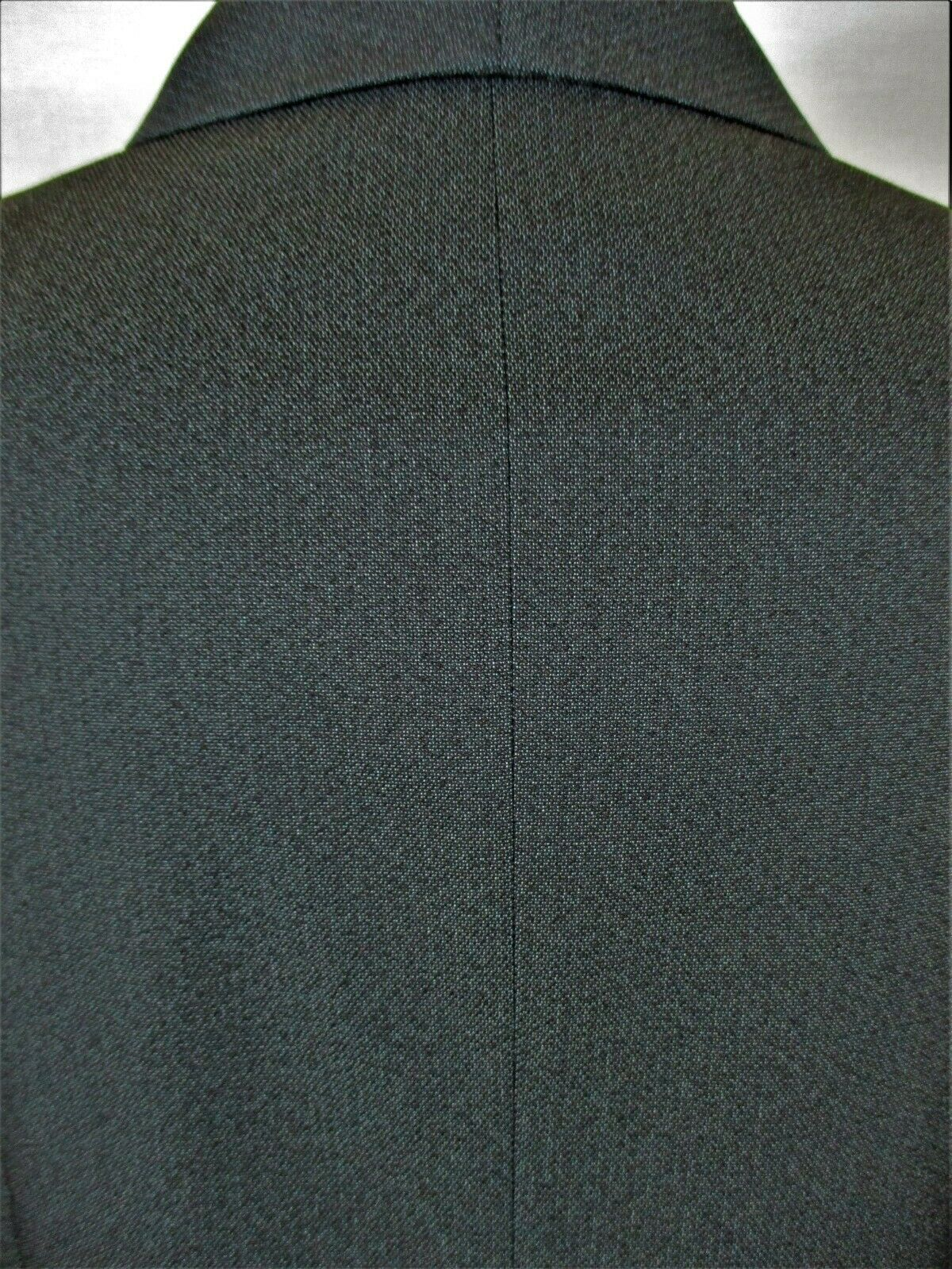 COLLECTIONS by LE SUIT womens Sz 14 L/S gray PLEATED FRONT button up jacket (Y)