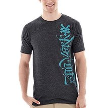 Zoo York Calligrapher City Short Sleeve Size L (14-16) New Black Tri Blend - $14.99