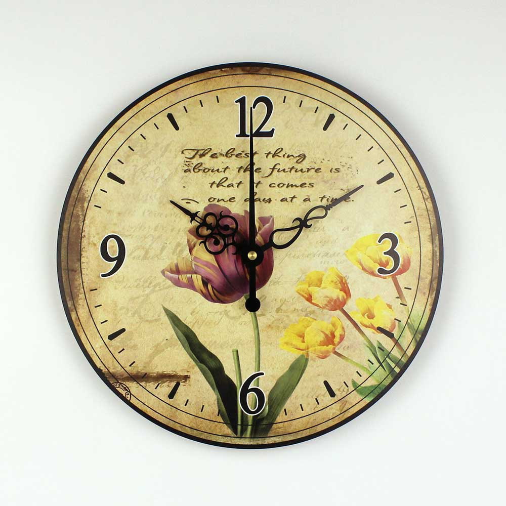 asia style home decoration 3d wall clock absolutely silent bedroom dec