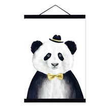 Modern Watercolor Nordic Kawaii Animal Panda A4... - $24.98 - $131.66