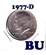 1977-D         KENNEDY HALF DOLLAR===BRILLIANT UNCIRCULATED--FREE SHIPPING - $41,94 MXN