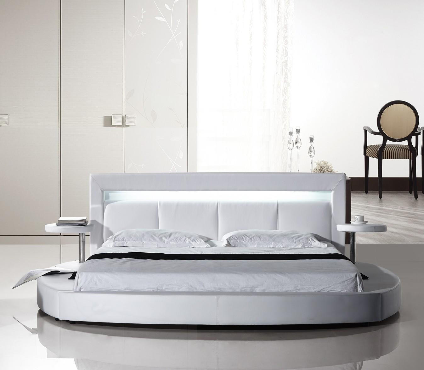 american eagle bdq modern white queen platform bed -