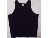Mens gildan black tank top front thumb155 crop