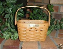 Longaberger Medium Basket Dresden Tour II With Plastic Protector Hand Ma... - $27.67