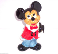 Walt Disney Productions Mickey Mouse Figurine Hand Painted Vintage  - $24.97