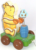 Disney Winnie Pooh Wood Pull Toy Schylling Moving Arms - $49.95