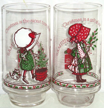 2 Holly Hobbie Coke Glasses American Greetings Limited Edition Vintage - $14.97