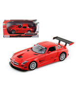 Mercedes SLS AMG GT3 Red 1/24 Diecast Car Model by Motormax 73356r - $33.76