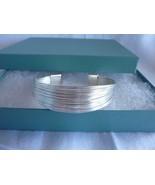 "Sterling Silver Cuff Bracelet 6/8"" Wide Adjustable - $58.75"