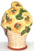 Sunflowers Cookie Jar in a Basket - $14.97