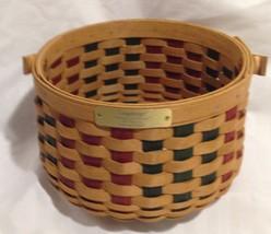 Longaberger 2003 Christmas Caroling Basket - $24.50