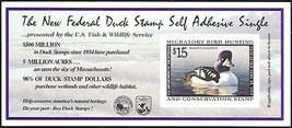 RW65A, DUCK Stamp Self-Adhesive Pane - Priced Very Low! - Stuart Katz - $22.00
