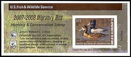 RW74A, DUCK Stamp Self-Adhesive Pane - Priced Very Low! - Stuart Katz  - $24.00